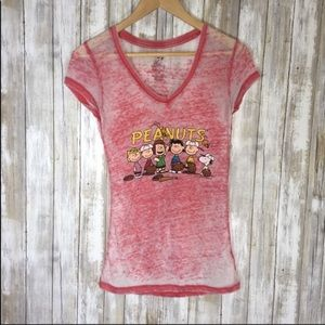 Peanuts Red Heather Tee